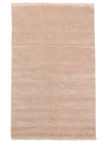 Handloom Fringes - Sanftes Rosé Teppich  140X200 Moderner Hellrosa/Beige (Wolle, Indien)