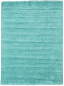 Handloom Fringes - Aqua Teppich  160X230 Moderner Türkisblau/Dunkel Türkis (Wolle, Indien)