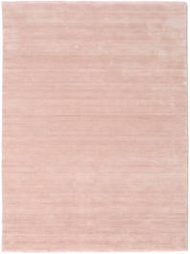Handloom Fringes - Sanftes Rosé Teppich  160X230 Moderner Hellrosa/Beige (Wolle, Indien)
