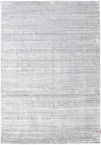 Bambus Seide Loom - Grau Teppich  160X230 Moderner Weiß/Creme/Hellgrau ( Indien)