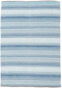 Wilma - Blau Teppich  120X180 Echter Moderner Handgewebter Hellblau/Beige (Baumwolle, Indien)