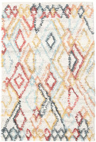 Naima - Multi Teppich  120X180 Echter Moderner Handgewebter Beige/Weiß/Creme (Wolle, Indien)