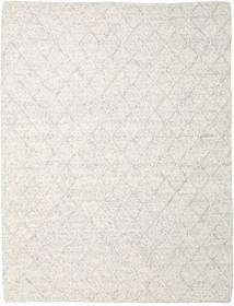 Rut - Eisgrau Melange Teppich  250X350 Echter Moderner Handgewebter Hellgrau/Dunkel Beige Großer (Wolle, Indien)