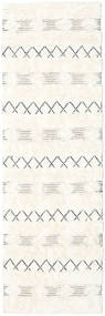 Shedir - Weiß Teppich  80X250 Echter Moderner Handgewebter Läufer Beige/Gelb (Wolle, Indien)