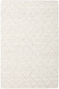 Rut - Eisgrau Melange Teppich  200X300 Echter Moderner Handgewebter Weiß/Creme/Dunkel Beige/Beige (Wolle, Indien)