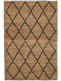 Outdoor-Teppich Serena Jute - Natural/Schwarz Teppich  120X180 Echter Moderner Handgewebter Hellgrau/Beige (Jute-Teppich Indien)
