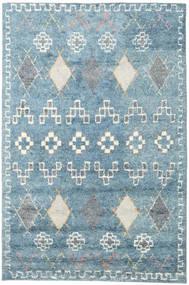 Zaurac - Blau Grau Teppich  200X300 Echter Moderner Handgeknüpfter Hellblau/Weiß/Creme (Wolle, Indien)