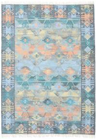 Azteca - Blau Mix Teppich  210X290 Echter Moderner Handgewebter Hellblau/Hellgrau (Wolle, Indien)
