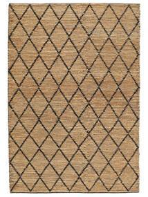 Outdoor-Teppich Serena Jute - Natural/Schwarz Teppich  200X300 Echter Moderner Handgewebter Hellgrau/Beige (Jute-Teppich Indien)