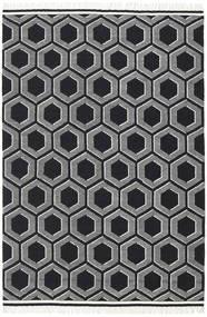 Opti - Schwarz/Weiß Teppich  300X400 Echter Moderner Handgewebter Dunkelgrau Großer (Wolle, Indien)