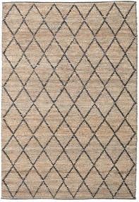 Outdoor-Teppich Serena Jute - Natural/Schwarz Teppich  300X400 Echter Moderner Handgewebter Hellgrau/Hellbraun Großer (Jute-Teppich Indien)