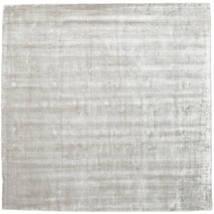 Broadway - Silber Weiß Teppich 250X250 Moderner Quadratisch Hellgrau Großer ( Indien)