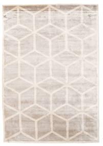 Facets Teppich  170X240 Echter Moderner Handgeknüpfter Hellgrau/Weiß/Creme ( Indien)