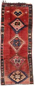 Herki Vintage Teppich  153X390 Echter Orientalischer Handgeknüpfter Läufer Dunkelrot/Dunkelbraun/Rost/Rot (Wolle, Türkei)