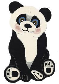 Panda Baby Teppich  100X160 Moderner Dunkelgrau/Beige (Wolle, Indien)