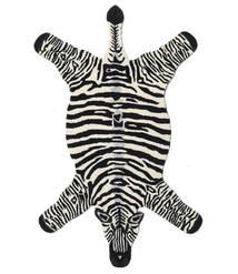 Zebra Teppich  100X155 Moderner Schwartz/Beige (Wolle, Indien)