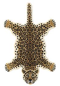 Leopard - Beige Teppich 100X160 Moderner Schwartz/Hellbraun/Beige (Wolle, Indien)