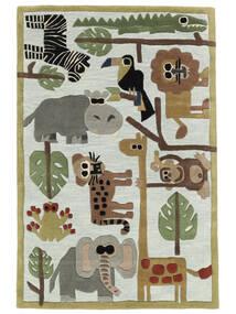 Zoo Handtufted Teppich  120X180 Moderner Hellblau/Hellgrau (Wolle, Indien)