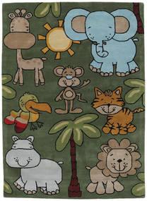 Savann Handtufted Teppich  170X240 Moderner Dunkelgrün/Hellgrau (Wolle, Indien)