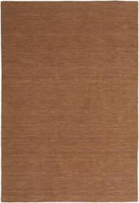Kelim Loom - Braun Teppich  200X300 Echter Moderner Handgewebter Braun (Wolle, Indien)