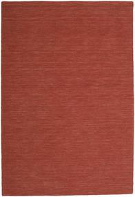 Kelim Loom - Rost Teppich  200X300 Echter Moderner Handgewebter Dunkelrot (Wolle, Indien)