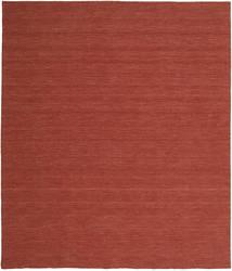 Kelim Loom - Rost Teppich  250X300 Echter Moderner Handgewebter Dunkelrot Großer (Wolle, Indien)