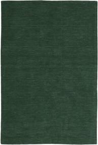 Kelim Loom - Waldgrün Teppich  300X400 Echter Moderner Handgewebter Dunkelgrün Großer (Wolle, Indien)