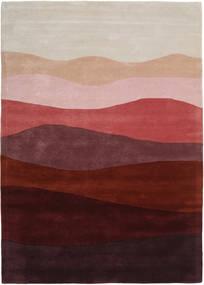 Feeling Handtufted - Wine Teppich  160X230 Moderner Dunkelrot/Hellgrau (Wolle, Indien)