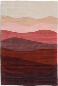 Feeling Handtufted - Wine Teppich  200X300 Moderner Dunkelrot/Hellgrau (Wolle, Indien)