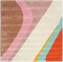 Dynamic Handtufted - Rosa Teppich  250X250 Moderner Quadratisch Beige/Hellbraun Großer (Wolle, Indien)
