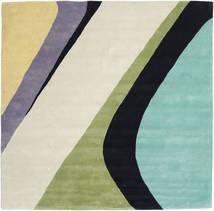 Dynamic Handtufted - Mint Teppich  250X250 Moderner Quadratisch Dunkel Beige/Türkisblau Großer (Wolle, Indien)