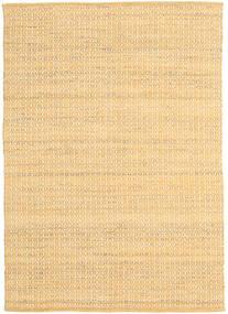 Alva - Dunkel _Gold/Weiß Teppich  140X200 Echter Moderner Handgewebter Gelb/Hellbraun/Beige (Wolle, Indien)