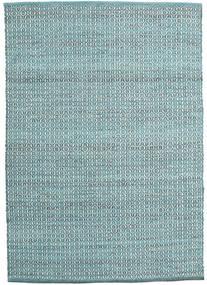 Alva - Türkis/Weiß Teppich  140X200 Echter Moderner Handgewebter Hellblau/Türkisblau (Wolle, Indien)
