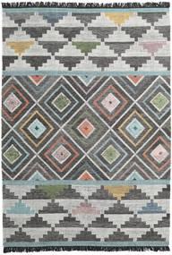Iris Teppich  200X300 Echter Moderner Handgewebter Dunkelgrau/Hellgrau (Wolle, Indien)