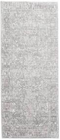 Maharani - Grau Teppich  80X200 Moderner Läufer Hellgrau/Weiß/Creme ( Türkei)