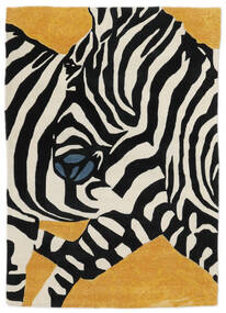 Zebra - 2018 Teppich  140X200 Moderner Schwartz/Weiß/Creme (Wolle, Indien)