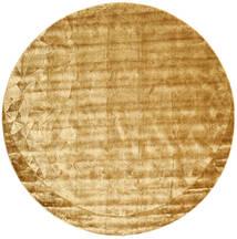 Crystal - Gold Teppich  Ø 250 Moderner Rund Gelb/Beige/Hellbraun Großer ( Indien)