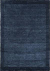 Handloom Frame - Dunkelblau Teppich 160X230 Moderner Dunkelblau (Wolle, Indien)