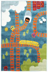 Railway Teppich  120X180 Moderner Hellblau/Orange ( Türkei)