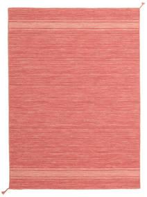 Ernst - Coral/Light_Coral Teppich  140X200 Echter Moderner Handgewebter Hellrosa/Rot (Wolle, Indien)