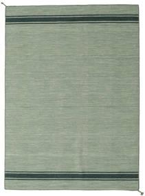 Ernst - Grün/Dunkel _Green Teppich  170X240 Echter Moderner Handgewebter Hell Grün/Lindgrün (Wolle, Indien)