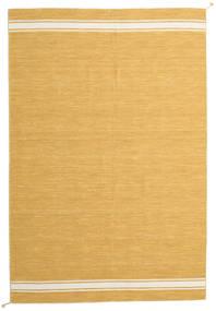 Ernst - Senfgelb/Naturweiß Teppich  200X300 Echter Moderner Handgewebter Hellbraun/Dunkel Beige (Wolle, Indien)
