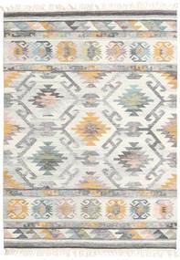 Mirza Teppich  160X230 Echter Moderner Handgewebter Hellgrau/Beige (Wolle, Indien)