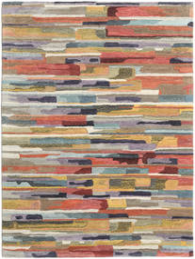 Sense Teppich  160X230 Moderner Hellgrau/Dunkelgrau (Wolle, Indien)