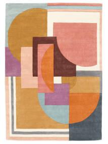 Arty - Multi Teppich  160X230 Moderner Orange/Dunkel Beige (Wolle, Indien)