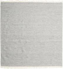Melange - Grau Teppich 250X250 Echter Moderner Handgewebter Quadratisch Hellgrau Großer (Wolle, Indien)