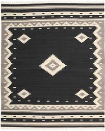 Tribal - Schwarz Teppich  250X300 Echter Moderner Handgewebter Schwartz/Beige Großer (Wolle, Indien)
