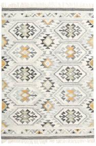 Mirzapur Teppich  140X200 Echter Moderner Handgewebter Beige/Dunkel Beige (Wolle, Indien)