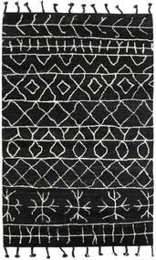 Moss Berber - Schwarz Teppich  180X275 Echter Moderner Handgeknüpfter Schwartz (Wolle, Indien)
