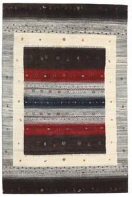 Gabbeh Loribaft Teppich 136X206 Echter Moderner Handgeknüpfter Dunkelbraun/Hellgrau (Wolle, Indien)